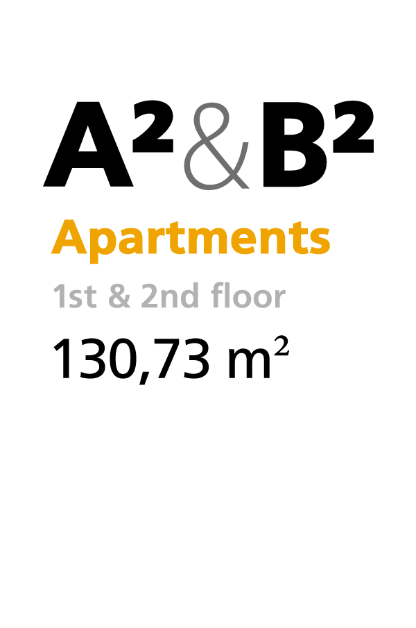 A2 & B2 - 1st & 2nd floor apartments