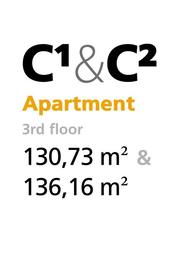 C1 & C2 - 3rd floor apartments