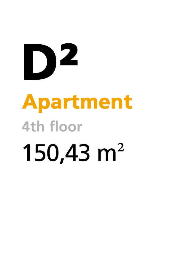 D2 - 4th floor apartment - 150.43 square meters