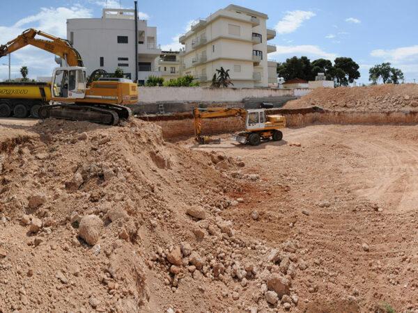 Ellinicon 3: Εκσκαφές - Foundation excavation